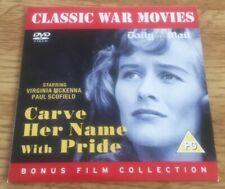 *** CARVE HER NAME WITH PRIDE - PROMO DVD - FREE UK POSTAGE ***