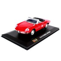 1/32 BBURAGO 1966 Red Alfa Romeo Spider Diecast Vehicle Car Collection Toys
