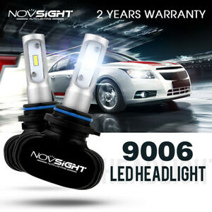 NOVSIGHT 2X 9006 HB4 Car LED Headlight Bulbs Replace Halogen White 50W 8000LM