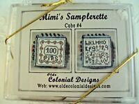 Cross Stitch Kit Olde Colonial Designs Mimis Samplerette Cube 4 32 Ct Linen New