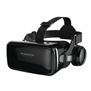 VR Headset with Headphones Virtual Reality Headset 3D VR Goggles Glasses