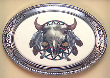 Belt Buckle Barlow Photo Reproduction in Color Indian Shield 592419c NEW