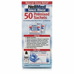 NeilMed Sinus Rinse Premixed Sachets Regular Nasal Relief Irrigation 50 Sachets