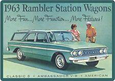 1963 Rambler Station Wagon Auto Refrigerator / Tool Box Magnet Man Cave Shop