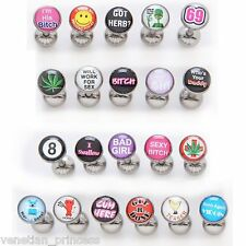 6 Pack Bad Word Tongue Ring Dirty Funny Assorted Random USA SELLER FREE SHIPPING