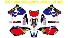 N 305 SUZUKI DRZ 400 2000-2012 DECALS STICKERS GRAPHICS KIT