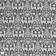 Tissu patchwork  Motifs Scandinaves Gris bleuté Scandi III
