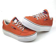 Vintage 1990's Tommy Hilfiger Orange Chunky Platform Shoes Sneaker Womens Size 5
