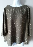 Ladies green & white  Blouse By M&S Size 18