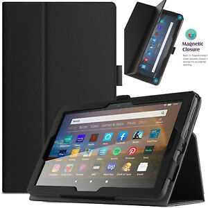 Leather Smart Stand Case Cover For Amazon Fire HD 10 2021 Fire HD 10 Plus ALEXA