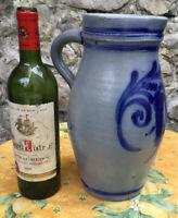 Large French Salt Glaze Pitcher Alsace Water 3L Pottery Eartheware StoneWare