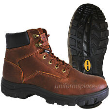 """Work Zone Boots Men 6"""" Waterproof Insulation Leather Brown Boot"""
