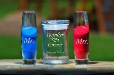 Personalized 3 Pce Unity Sand Ceremony Set - Free Sand - Together Forever Hearts