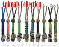 Survival Paracord Lanyard Keychain Strap Key Charm with Hand-Casted Bead CooB #1