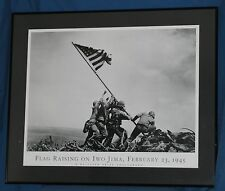WWII Battle of Iwo Jima (1945) Poster  Framed  FLAG RAISING ON IWO JIMA  33x27