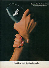 Publicité Advertising 1983  Parfum DRAKKAR NOIR de GUY LAROCHE