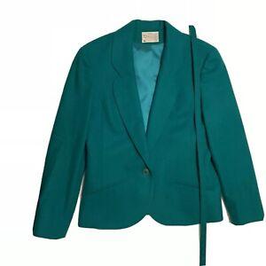 Pendleton Womens Green Wool Skirt Jacket Suit High Quality Career USA Vintage 12