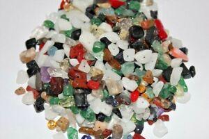 250 Stück Halbedelsteine, Splitter, Multicolor, 3-10mm, gebohrt