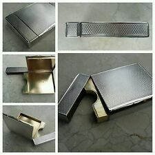 UNBELIEVABLE STERLING SILVER SNUFF BOX/CALLING CARD CASE, RAWLINGS & SUMMERS