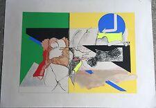 "Moshe Givati (Israeli, 1934-2012) ""Untitled"" lithograph & screenprint 1971"