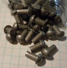 "100 Steel Round Head Rivets 3/16 x 3/8"" Steampunk Blacksmith Sca Armour"