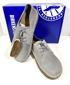 Birkenstock Gary Women's Sz 7 (EU38)Narrow Fit Lt Grey Suede Oxford Shoes S1-553