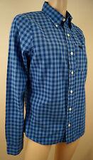 Abercrombie & FITCH da uomo Blu & BLU A SCACCHI 100% Camicia di cotone taglie M