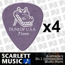 4 x Jim Dunlop Gator Grip 417R 0.71MM Gauge Guitar Picks *NEW* Plectrums Purple