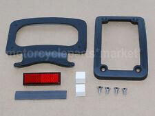 Black License Plate Curved Frame Bracket For Harley Street Road Glide King Dyna