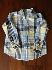 Janie and Jack boys classic button-down shirt size 3, white, yellow, blue