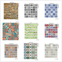 6Pcs Brick Self-adhesive Stair Riser Stickers 3D Vinyl Removable  Stair Decals