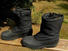 Kamik Mens sz 9 Black Slip On Waterproof Insulated Winter Snow Boots Barely Worn