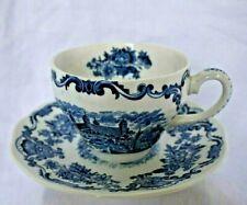 Grande tasse à thé en faïence anglaise décor bleu Royal homes of Britain
