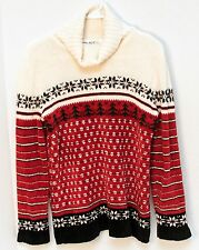 Russ Liz Claiborne Christmas Sweater Turtleneck Women's Size Small Trees