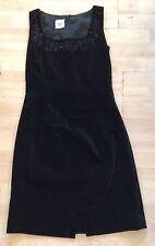 LAURA ASHLEY, 32 INCH BUST, BLACK SLEEVELESS VELVET STYLE SHEATH DRESS, NWOT