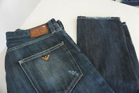 ARMANI JEANS Herren Men Hose 34/32 W34 L32 stonewashed used darkblue TOP #3