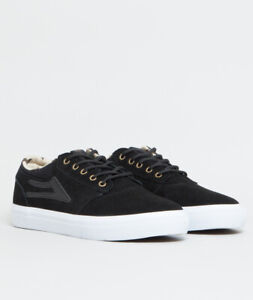 Lakai Shoes Griffin (Duck Pack) Black White Suede USA SIZE Skateboard Sneakers