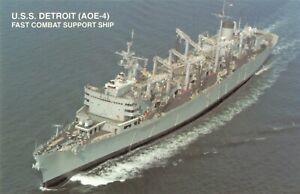 Postcard USS Detroit AOE-4 Fast Combat Support Ship