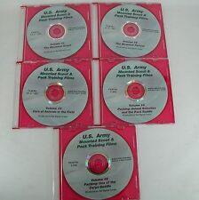 NEW 5 DVDs US Army Mounted Scout & Pack Training Films Signal Corp Horse Riding
