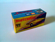 Boîte copie repro MATCHBOX Superfast N° 33 new Datsun 126X ( reproduction box )