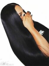 Middle Part Black Long Straight Synthetic Wig Hair