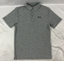 Under Armour MEN'S Athletic Golf Polo Loose Heat Gear Gray 1291347 Size L