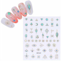 3D Nail Sticker Gem Adhesive Decals Nail Art Decoration Transfer Stickers Tips