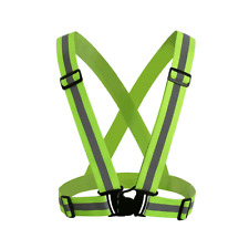 Reflective Adjustable Safety Vest Security Visibility Harness Out Sport Cycling