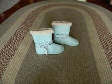 NWT JUSTICE GIRLS COZY SHIMMER BOOTS MINT 5