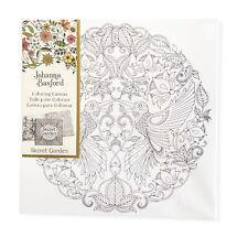 "Johanna Basford Secret Garden Coloring Canvas-Canvas Wrapped Wood Frame 12""x12"""