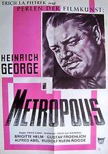 FRITZ LANG + METROPOLIS + BRIGITTE HELM + HEINRICH GEORGE + GERMAN 1-SH +