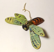 """RARE Antique Christmas ornaments """"BEE. WASP"""" Soviet toy Wood sawdust USSR 1930s"""