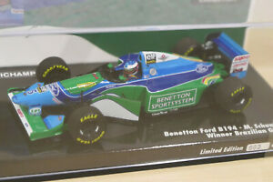 """Minichamps 1:43 - Benntton Ford B194 """"M. Schumacher Winner GP Brazil 1994"""" 3/300"""