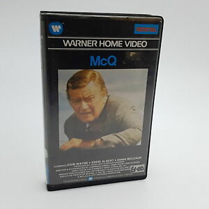 McQ (1974) Big Box Pre-Cert Betamax Video Cassette [VG] John Wayne UK PAL